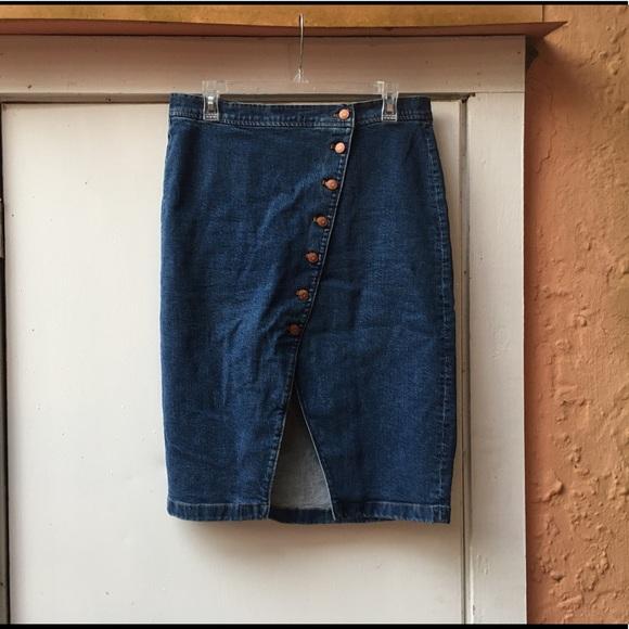 bf134cf648 Madewell Dresses & Skirts - Madewell High Rise Symmetrical Denim Skirt